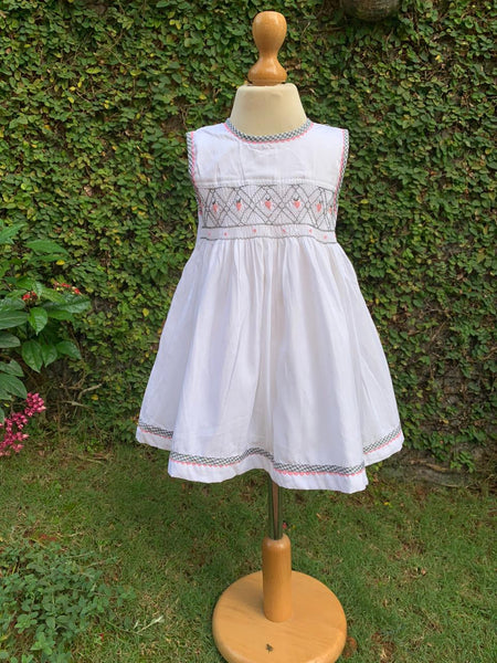 STRAWBERRY DELIGHT SMOCKED DRESS
