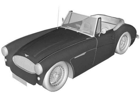 KALAHARI ULTIMATE FLEECE INDOOR CAR COVER FOR AUSTIN HEALEY