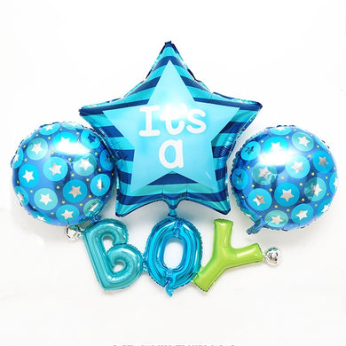 IT'S A BOY - Baby Shower  4 Balloons Set Foil Balloon - bangkokkidsparty