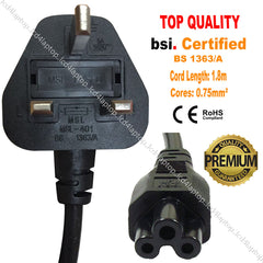 Pin Wall Power Cord C5 Cloverleaf Cable