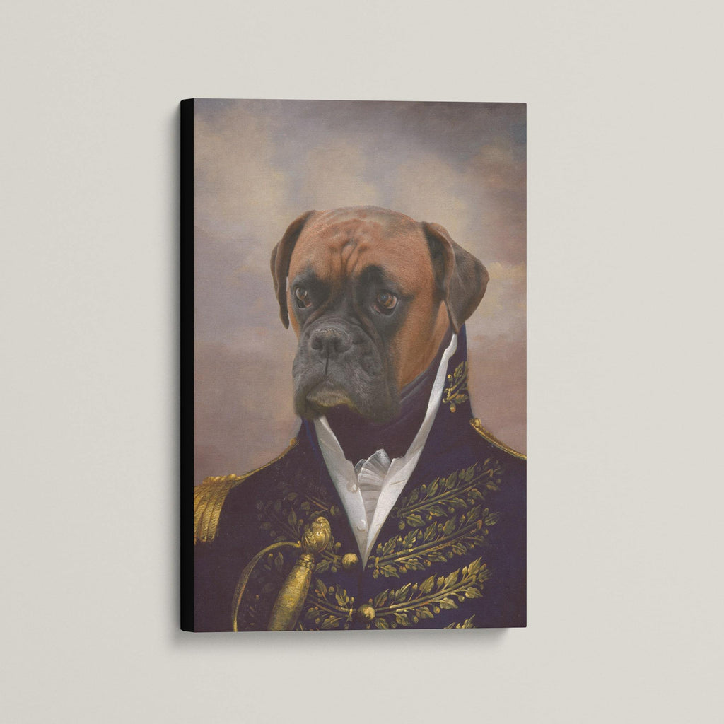 The Admiral - Custom (Your Pet) Canvas Art