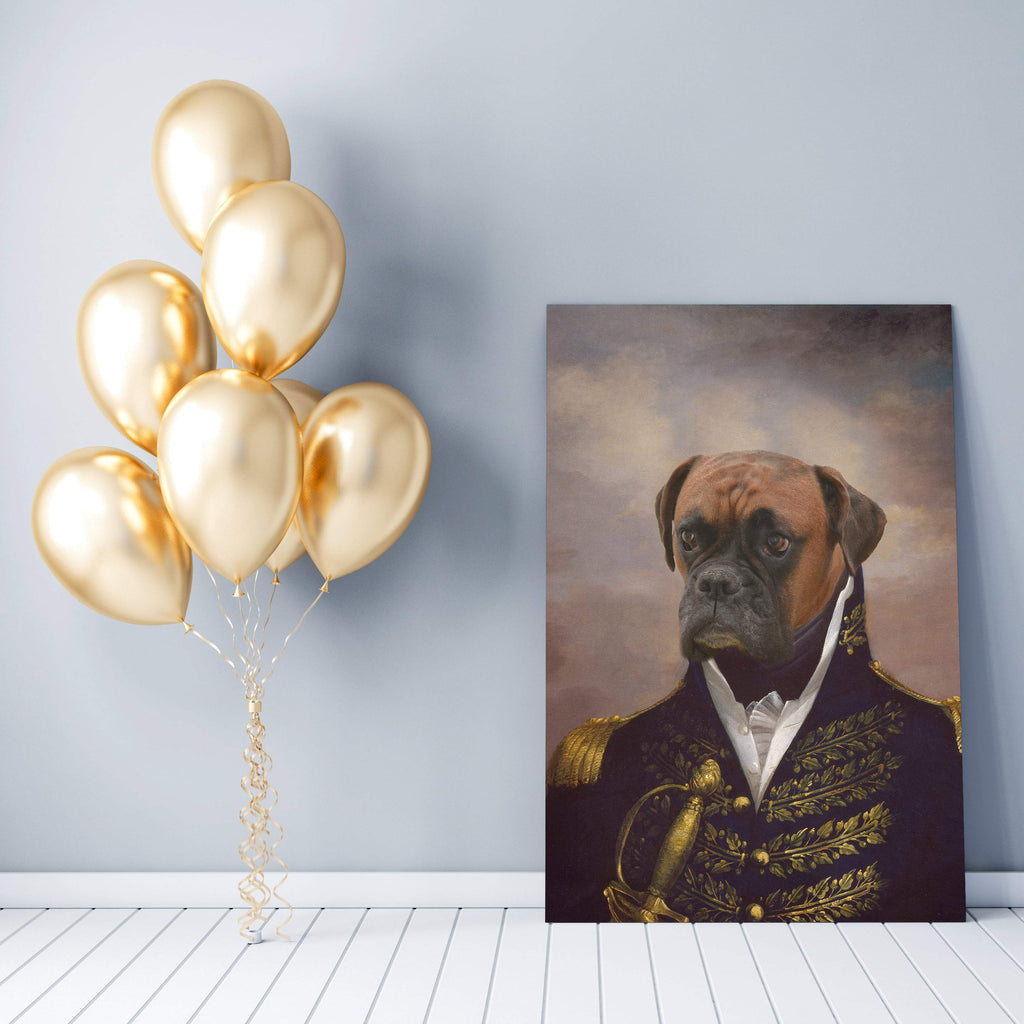 7ac0a7a41508 The Admiral - Custom (Your Pet) Canvas Art – Paw & York