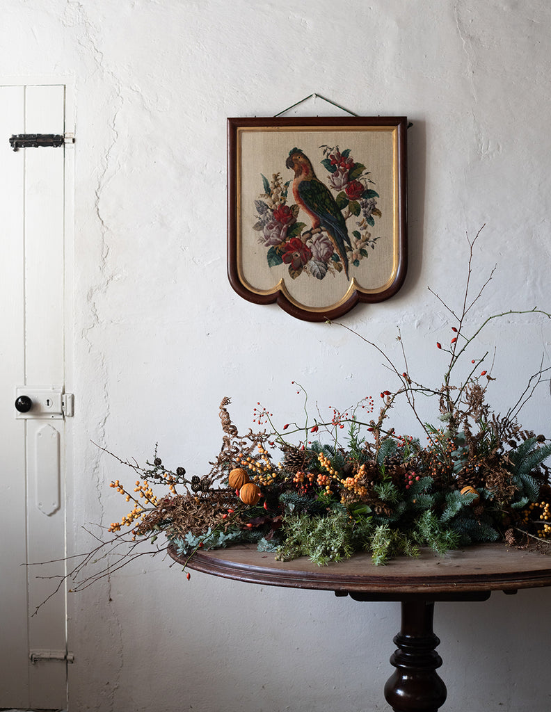 Christmas Mantle Arrangement