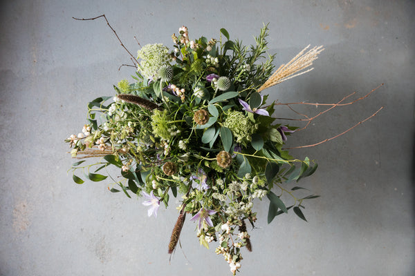 Mixed foliage bouquet