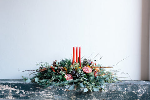 Three Pillar candle arrangement