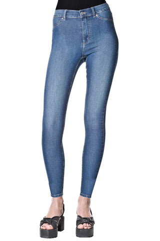 CHEAP MONDAY HIGH SPRAY(womenswear) available in MID BLUE