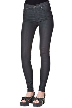 CHEAP MONDAY-SECOND SKIN(womenswear)-BLACK WAXED