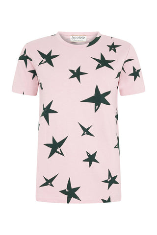 Etre Cecile Stars T-shirt Rose Pink Army Green