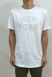 STAMPD NEW YORK PRACTICAL CREW TEE available in WHITE