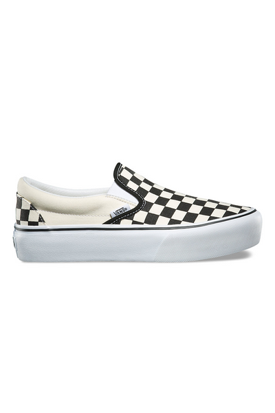 Vans Slip-On Platform Black White Checker / White vans is available in Brisbane Queensland Australia at Violent Green Albert Street store #vans #vansclassicslipon #vansoldskool #vanshalfcab #vanssk8hi #vansshoes #vansfootwear #footwear #vansdealer #vansstockist #vansaustralia #vansbrisbane #vansqueensland #vansera #checkerboard #vanscso #shoes #streetwear #skate