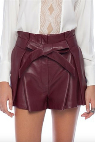 LOVER DOWNTOWN LEATHER SHORT RUBY