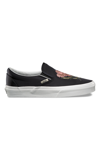 Vans California Souvenir Slip On DX available in Black  / Blanc De Blanc