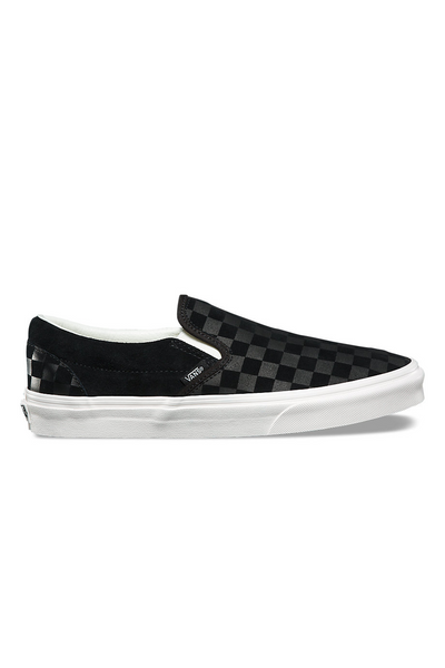 Vans Classic Checker Emboss Slip On Black Marshmallow vans is available in Brisbane Queensland Australia at Violent Green Albert Street store #vans #vansclassicslipon #vansoldskool #vanshalfcab #vanssk8hi #vansshoes #vansfootwear #footwear #vansdealer #vansstockist #vansaustralia #vansbrisbane #vansqueensland #vansera #checkerboard #vanscso #shoes #streetwear #skate