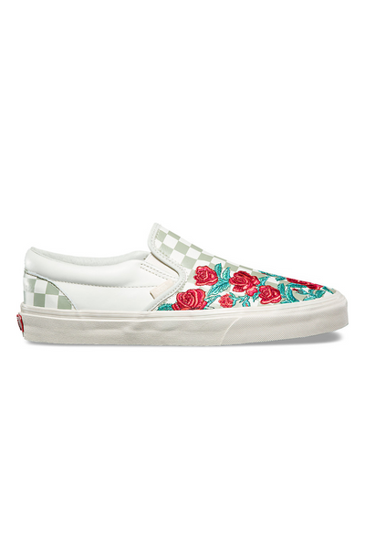 Vans Rose Embroidery Slip-On Dx Marshmallow Turtledove vans is available in Brisbane Queensland Australia at Violent Green Albert Street store #vans #vansclassicslipon #vansoldskool #vanshalfcab #vanssk8hi #vansshoes #vansfootwear #footwear #vansdealer #vansstockist #vansaustralia #vansbrisbane #vansqueensland #vansera #checkerboard #vanscso #shoes #streetwear #skate