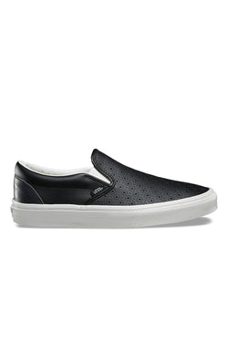 VANS Leather Perf Classic Slip On Black Vans is available in Brisbane Queensland Australia at Violent Green Albert Street store