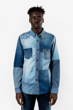 FDMTL Fundamental Luxury Agreement Boro Indigo Shirt 3YR Wash Indigo