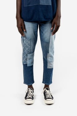 FDMTL Fundamental Luxury Agreement Cropped Boro Stretch Denim 3Yr Indigo