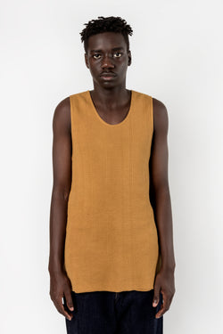 Bukht Knit Tank Top Mustard Bukht is available in Brisbane Queensland Australia at Violent Green Albert street store