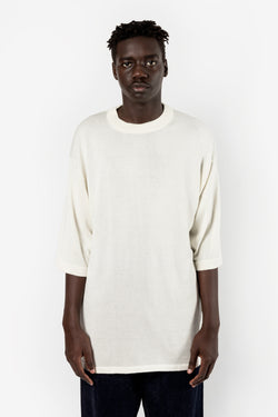 Bukht Wide Rib Knit Tee Off White Bukht is available in Brisbane Queensland Australia at Violent Green Albert street store