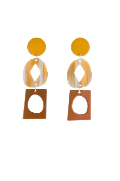 Bianca Mavrick Century Earrings - Sunflower Yellow