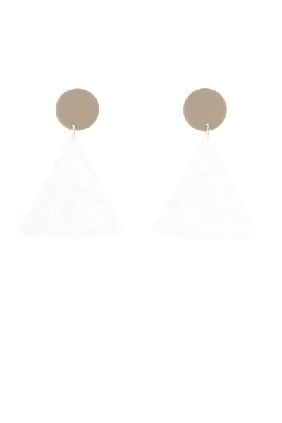 Bianca Maverick Chip Earrings - Tan