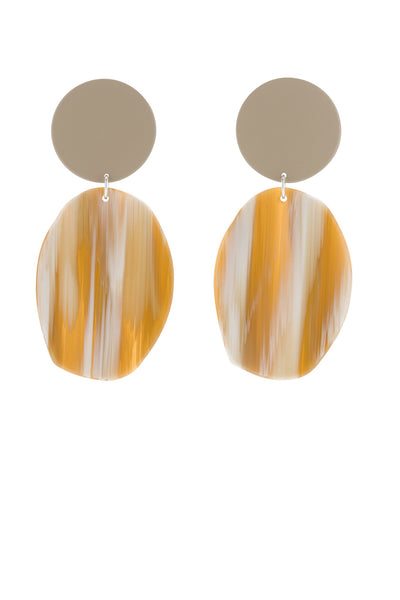 Bianca Maverick Geology Earrings - Tan