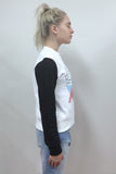 ETRE CECILE French Much Slim Fit Sweatshirt White Black