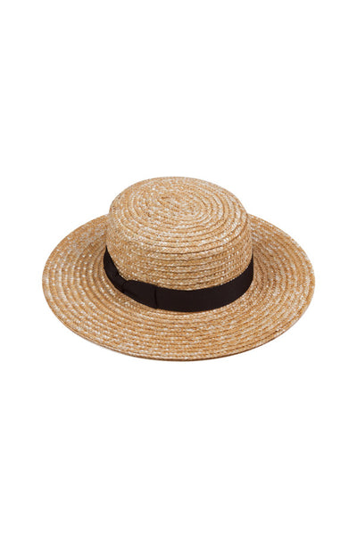 Lack Of Color The Spencer Boater Natural Woven Straw