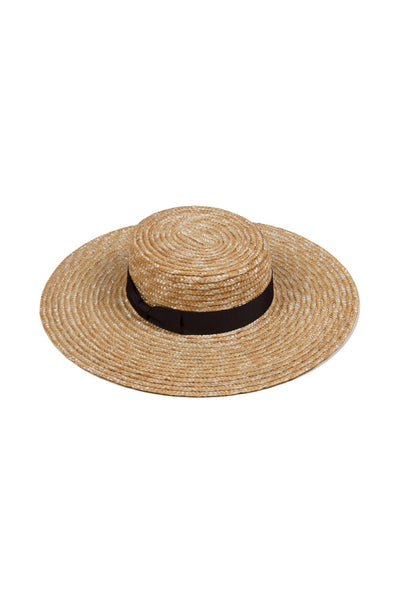 Lack Of Color The Spencer Wide Brim Boater Natural Woven Straw