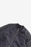 STAMPD Scalloped Bomber Black