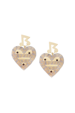 SRETSIS-MELODY EARRINGS SURPRISE LED SPARKS(item illuminates!)-GOLD