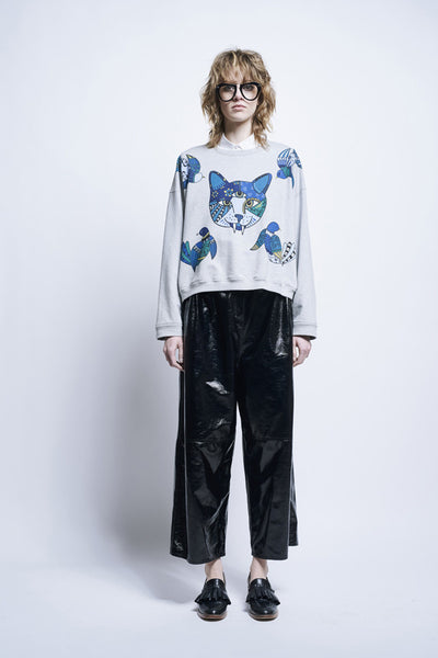 Karen Walker Gato Sweatshirt Grey Marle Sweatshirting
