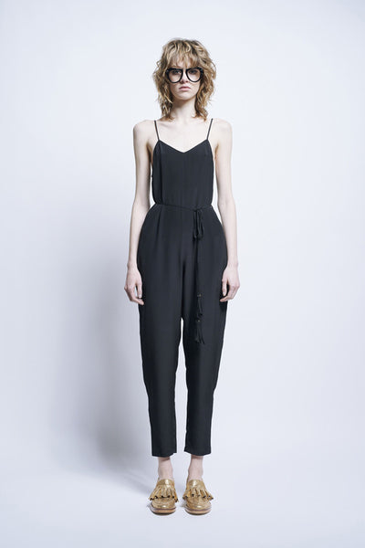 Karen Walker Fantasia Jumpsuit Black Crepe De Chine