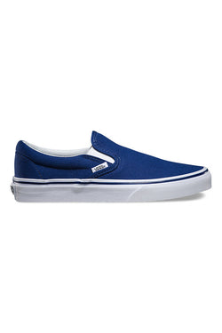 VANS Classic Slip On Twilight Blue True White Vans is available in Brisbane Queensland Australia at Violent Green Albert Street store