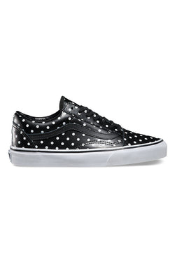 VANS OLD SKOOL LEATHER POLKA DOTS available in BLACK