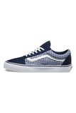VANS Twill and Gingham Old Skool Dress Blues True White