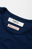 FDMTL Fundamental Luxury Agreement Indigo Patchwork Tee Indigo