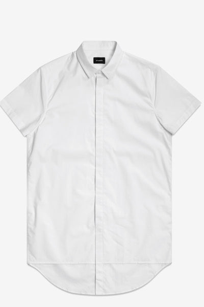 STAMPD Double Layer S/S Dress Shirt White