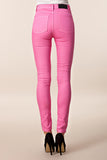 CHEAP MONDAY - SECOND SKIN JEAN (womens) - PINK DENIM USED