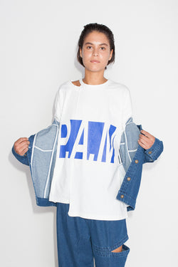 Perks And Mini (P.A.M.) Logo Split S/S Tee Off White