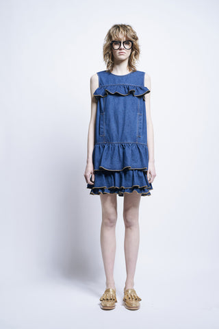 Karen Walker Dali Dress Indigo Denim