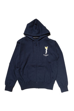 LIFE IS CONNECTED Now Showing Zip Up Hoodie Navy