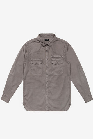 Stampd Washed Denim Work Shirt Grey