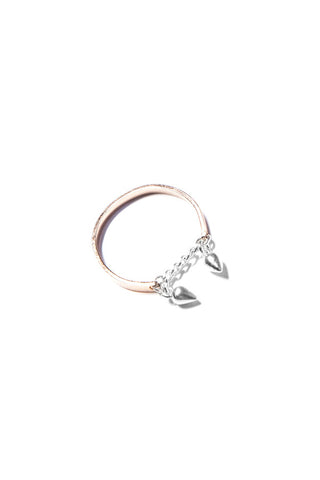 Petite Grand Double Pear Ring available in Sterling Silver (925) / Rose Gold 14ct gold plate Petite Grand is available in Brisbane Queensland Australia at Violent Green Albert Street store