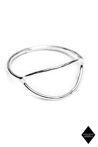PETITE GRAND-MOON RING-STERLING SILVER