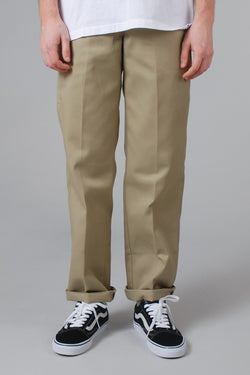 DICKIES 873 Slim Straight Fit Straight Leg Work Pant Khaki