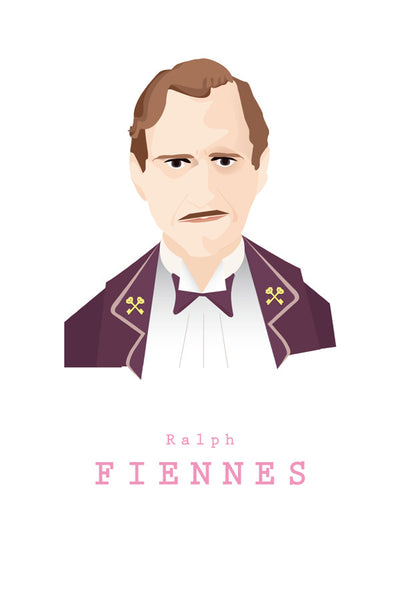 AND LIZZY-M.GUSTAVE (Ralph Fiennes) ARTWORK