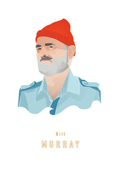 AND LIZZY-STEVE ZISSOU (Bill Murray) ARTWORK