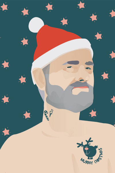 And Lizzy Bill Murray Christmas Card