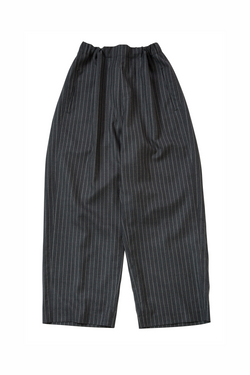 Bukht Wide Straight E/S Pants - Charcoal / White Stripe